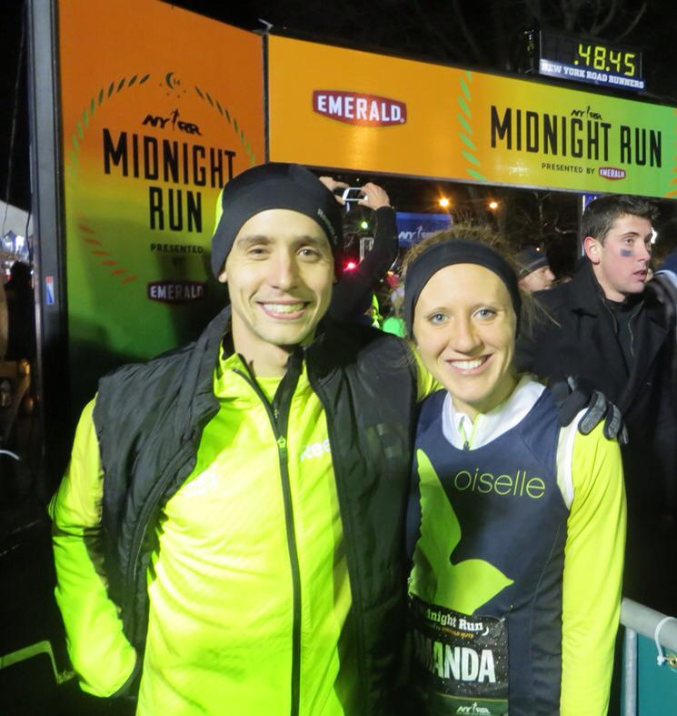 Cole after he won the NYRR Midnight Run - one of the many highlights of his career so far.