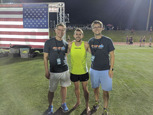 Donnie Cowart after running 4:00.37 at the Sir Walter Miler