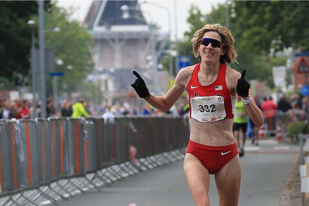 Camille Herron wins the IAU 100K World Championships, which took place in the Netherlands on Saturday.Photo by Meijco van Velzen