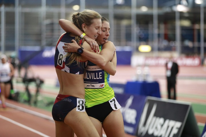 Michta & Melville - Post Millrose race R.E.S.P.E.C.T. Photo: Ross Dettman
