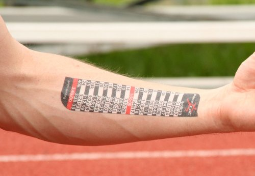 You don't have to write it all on your arm, but putting it on paper will help! (Photo Cred: Pace Tat)