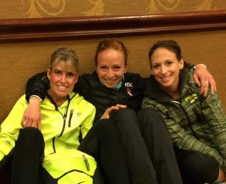 Pre-Race photo with Jeannette Faber and Sheri Piers before Twin Cities 2014. Lots of jitters!